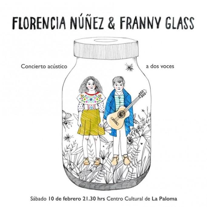 Concierto acústico de Florencia Núñez y Franny Glass en La Paloma