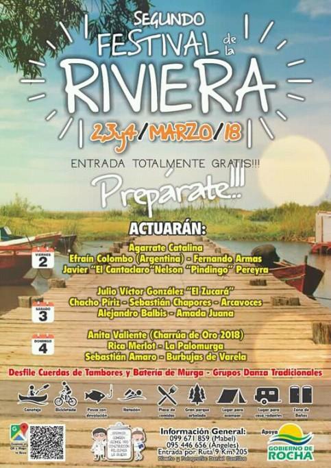 Festival de La Riviera, a solo 8 km de Rocha, con música en vivo y actividades