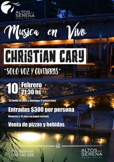 Show de Christian Cary: voz y guitarra en Altos de La Serena en La Paloma