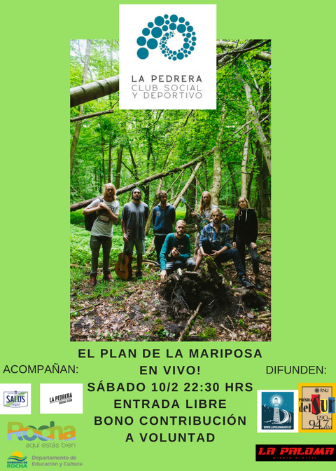 """Suena el rock en La Pedrera con """"El Plan de la Mariposa"""" desde Argentina"""