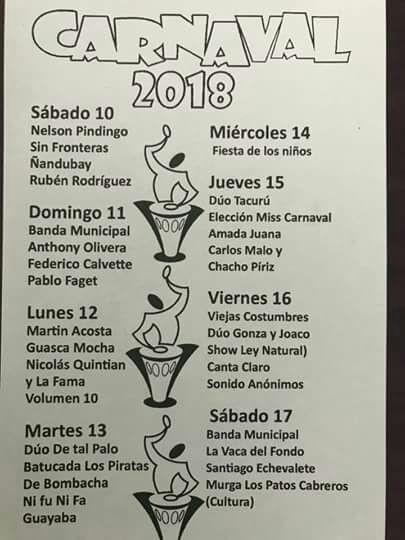 8 días de Carnaval en la ciudad de Castillos