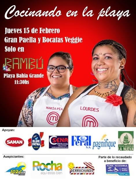 Cocinando en la playa Bahía Grande de La Paloma con María Pía y Lourdes de Master Chef