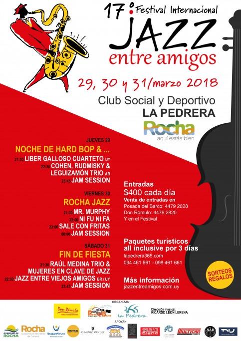 17° Festival de Jazz Entre Amigos durante la Semana de Turismo en La Pedrera
