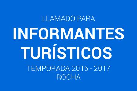 Llamado a informantes turísticos temporada 2016 - 2017 en Rocha