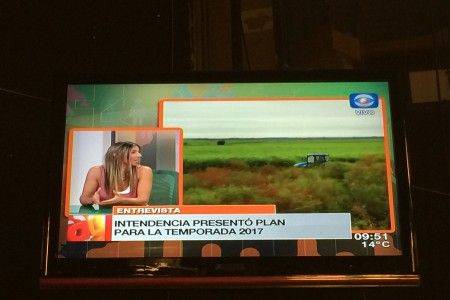 Promoción de Rocha en importantes medios de comunicación de Montevideo