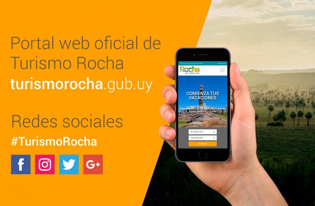 Presencia en turismorocha.gub.uy y redes sociales