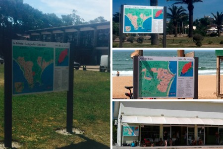 Cartelería turística en Rocha