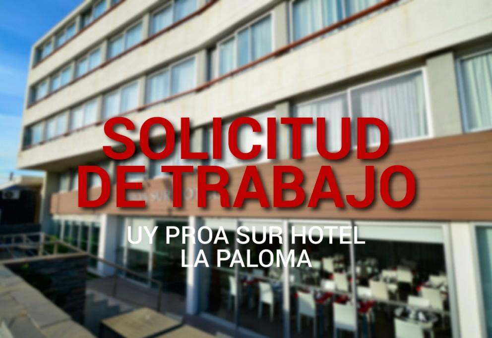 Solicitud de trabajo para UY Proa Sur Hotel en La Paloma