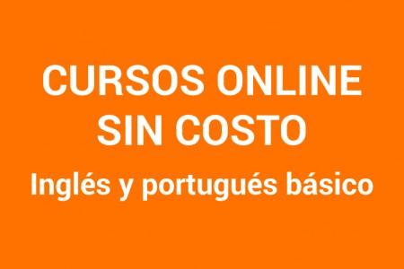 Cursos sin costo de inglés y portugués online