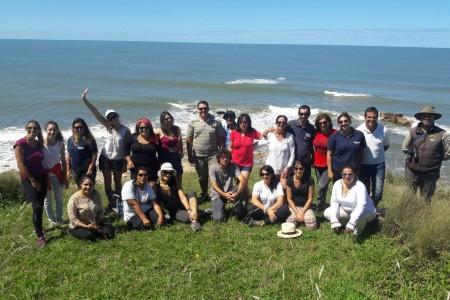 Informantes turísticos de Rocha visitaron el Área Protegida Cerro Verde e Islas de La Coronilla