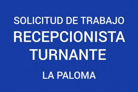 Solicitud de trabajo: recepcionista turnante para hotel en La Paloma