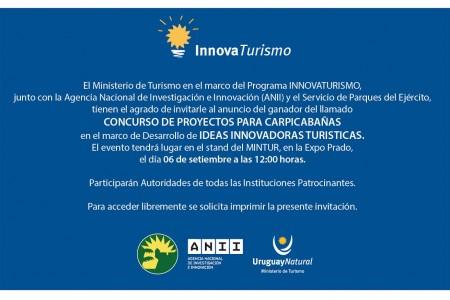 Invitación Innova Turismo en el pabellón de Uruguay Natural para la Expo Prado 2017