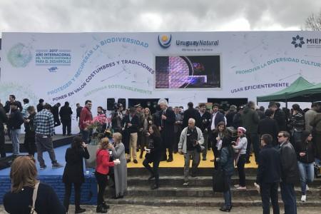 Rocha junto a los departamentos de la Región Este y el Ministerio de Turismo inauguraron su pabellón en Expo Prado