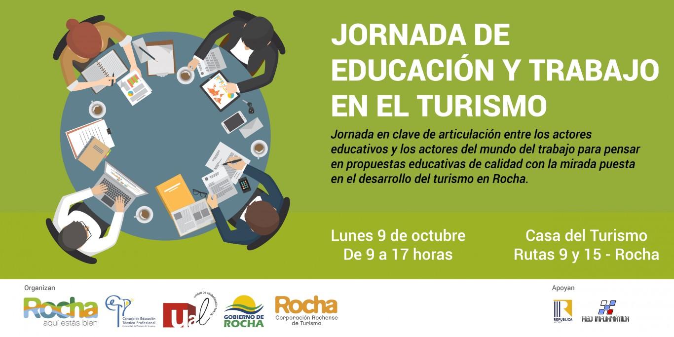 Invitación Jornada de educación y trabajo en el turismo en Rocha
