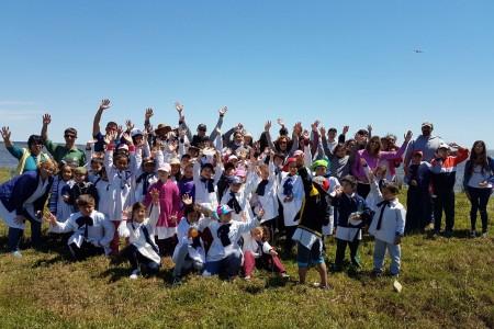 Más de 150 voluntarios se sumaron a la Jornada de limpieza y concientización ambiental en la Laguna de Rocha