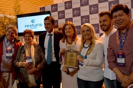 Medios de prensa de CIPETUR de Uruguay con los organizadores de Festuris