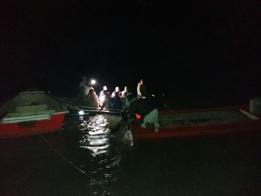 Pesca del camarón en Barra de Valizas
