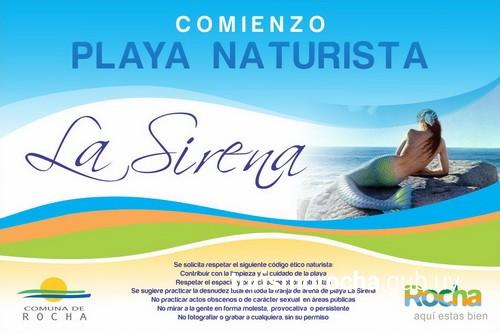Inauguración playa naturista La Sirena en Aguas Dulces, Rocha