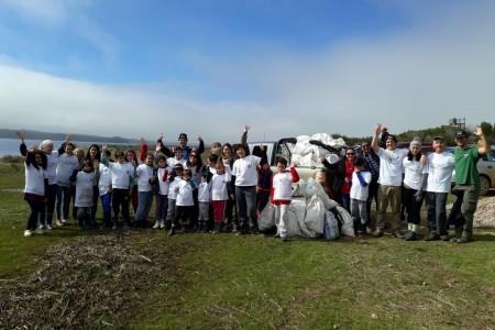 150 kg de residuos se recolectaron durante la jornada de limpieza en la Laguna de Rocha