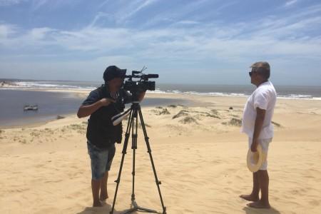 La prestigiosa cadena brasileña BandRS llegó a Rocha para producir un especial de verano
