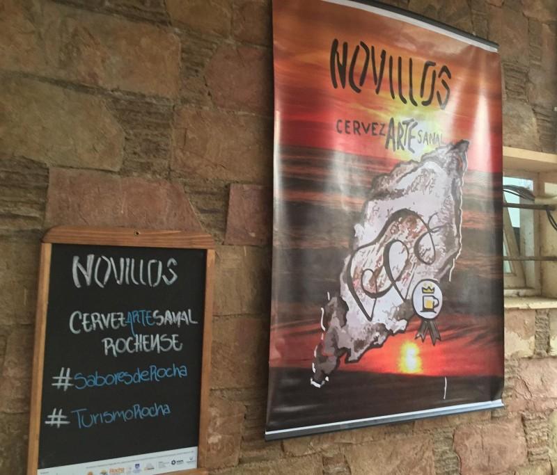 Novillos, cerveza artesanal de Rocha, en Feria DAS, La Pedrera