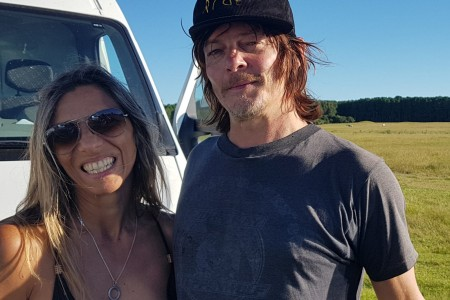 "Norman Reedus, estrella de ""The Walking Dead"", llegó a Rocha a rodar escenas para su serie ""Ride with Norman Reedus"""