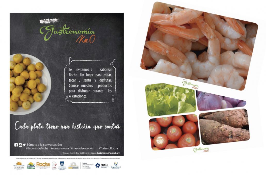 Afiches y postales de Gastronomía Km 0 de Rocha