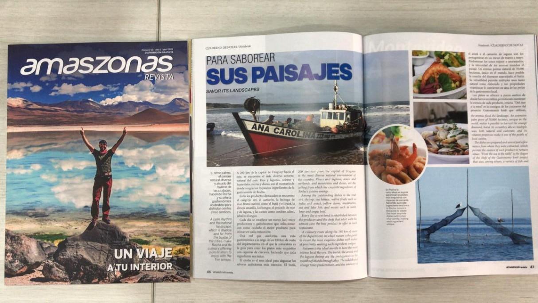 Los sabores de Rocha en la revista de Amaszonas