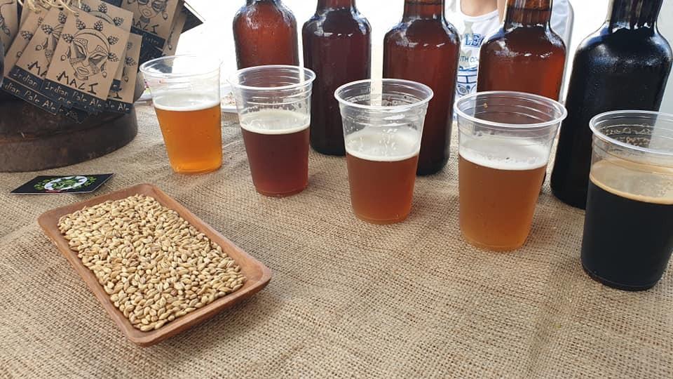 Cerveza artesanal en la 3ra Camaronada de Barra de Valizas, Rocha