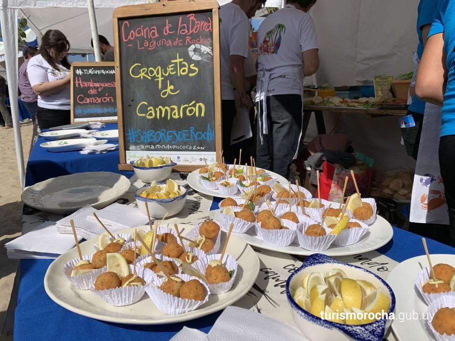 Gastronomía Km 0 de la 3ra Camaronada en Barra de Valizas