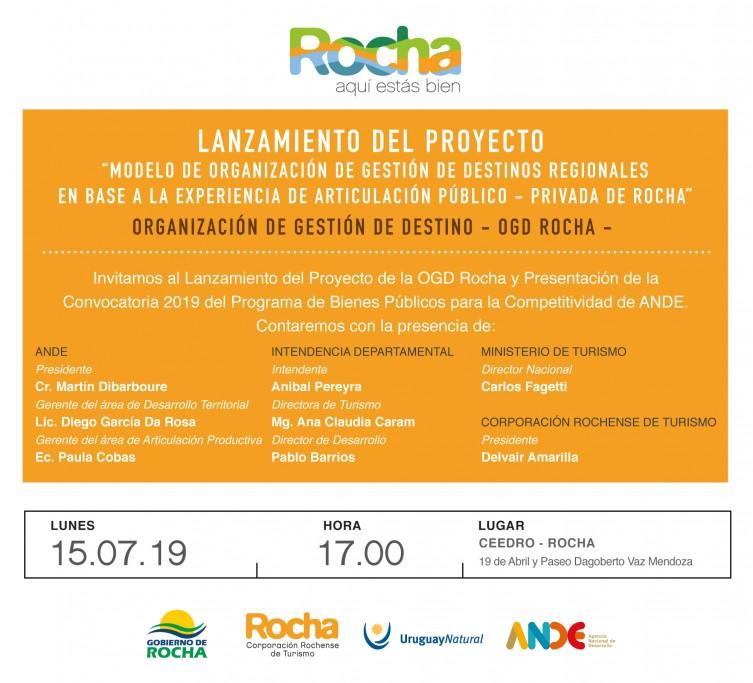 Invitación Lanzamiento Proyecto OGD ANDE