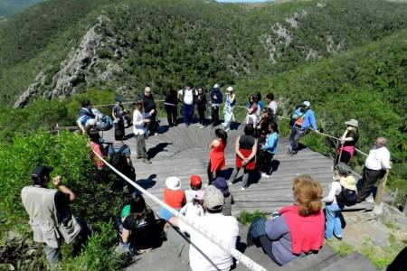 Visita guiada a la Quebrada de los Cuervos en Treinta y Tres