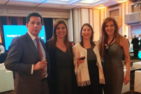 Claudio Quintana, Paola Ferrari, Teresa Russi y Patrichia Chabot