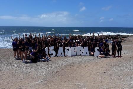 Turismo Social: quinceañeras de Colonia, Rio Negro, San José y Soriano visitaron Rocha en su viaje de 15