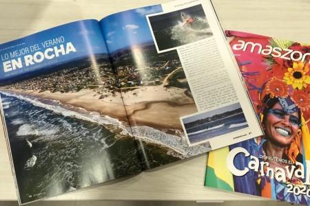 """""""Lo mejor del verano en Rocha"""" en la revista de vuelo de la aerolínea Amaszonas durante todo febrero"""