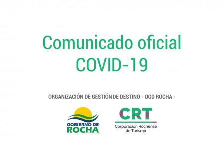COVID-19: comunicado oficial de la Organización de Gestión de Destino - OGD Rocha -
