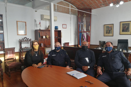Representantes de la CRT se reunieron con Jefe de Policía de Rocha para dialogar sobre seguridad y turismo