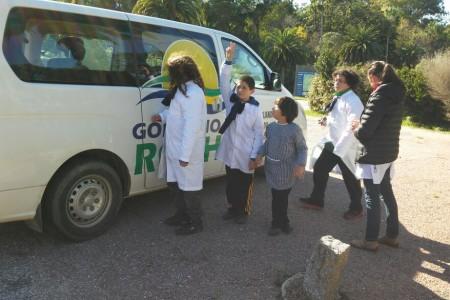 Actividadesde sensibilización en turismo enlas escuelas de Rocha