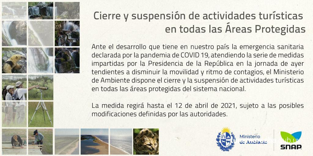 Cierre de Áreas Protegidas de Uruguay
