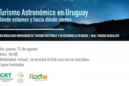 Invitación a la 2da Charla Virtual de Turismo Astronómico en Rocha