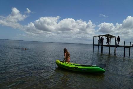 Canoa sobre la Laguna de Castillos