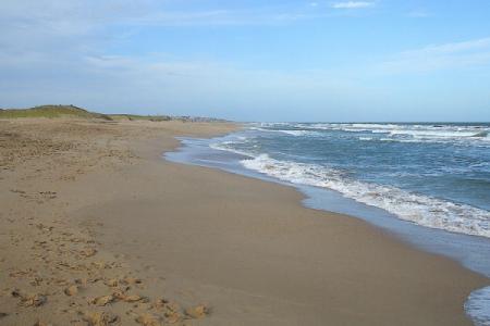 Descanso real sobre la playa durante el verano