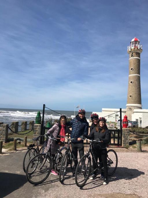 Bicicletas en el Faro de José Ignacio