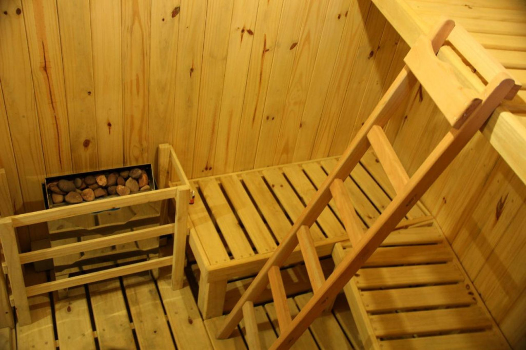 Sauna seco en el hotel de la torre en La Paloma