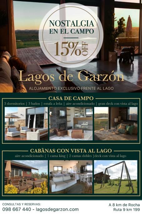 Descuento en alojamiento en Lagos de Garzon, Uruguay