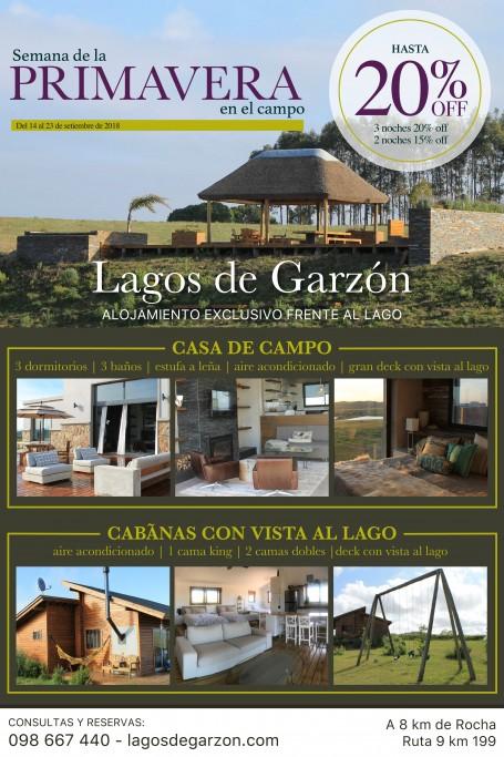 Promoción en Lagos de Garzon Rocha Uruguay