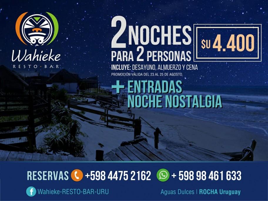 Paquete con alojamiento para Nostalgia 2019 en Aguas Dulces