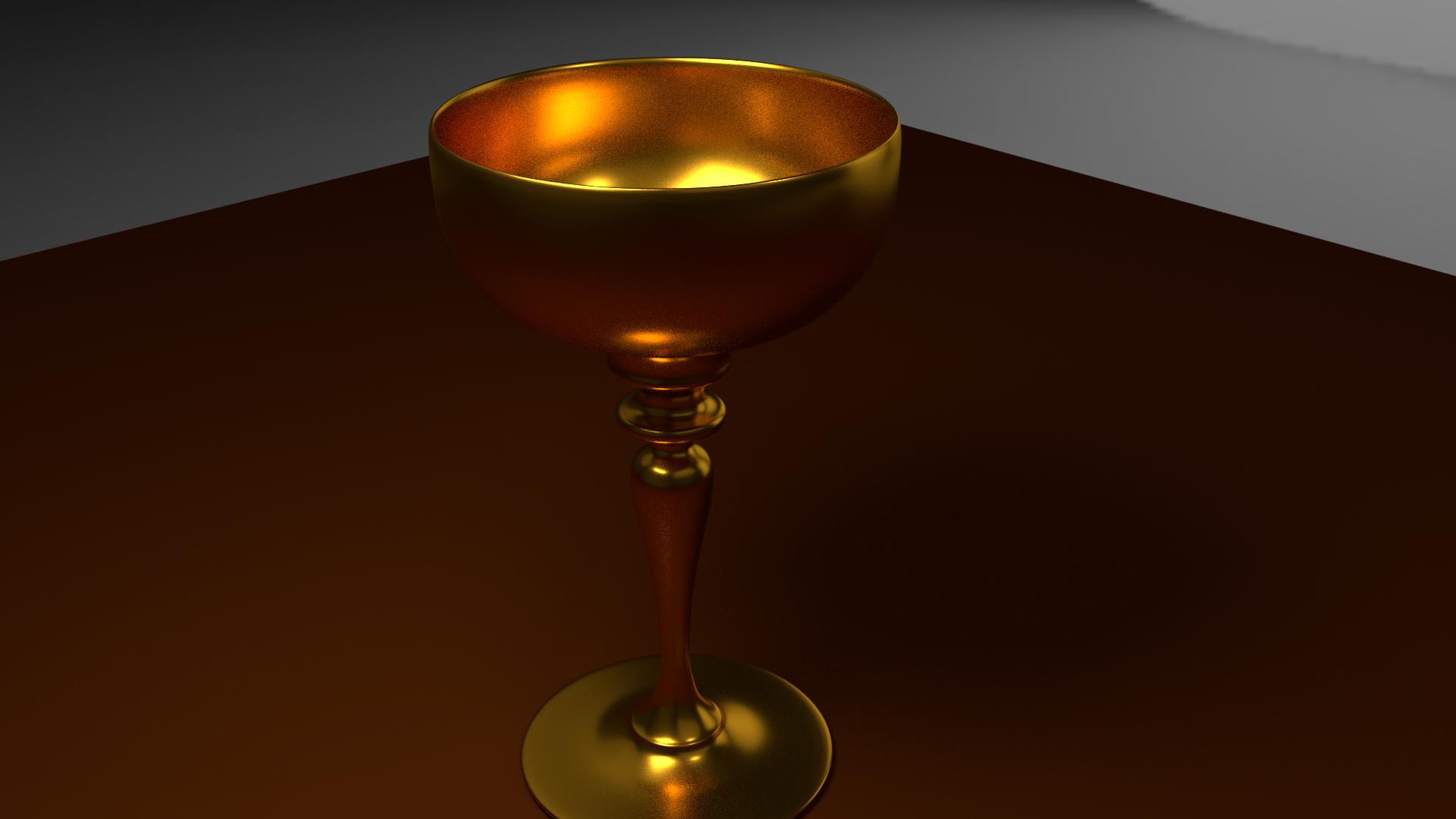 A shiny goblet