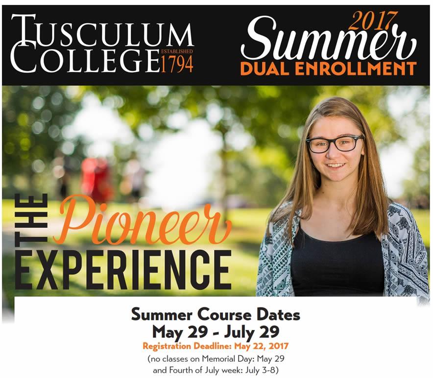 Summer 2017 Dual Enrollment at Tusculum