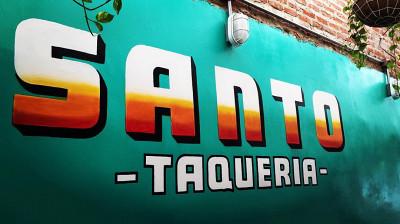 logo Santos Taqueria Parque Cristo Rey